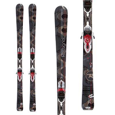 Rossignol Attraxion 3 Skis + Xelium Saphir 110 Bindings - Women's 2013