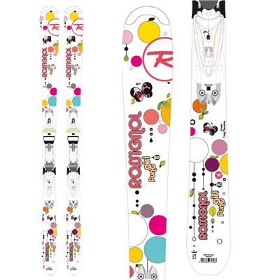 Rossignol Fun Girl Skis + Saphir 70 Bindings - Youth - Girl's 2013
