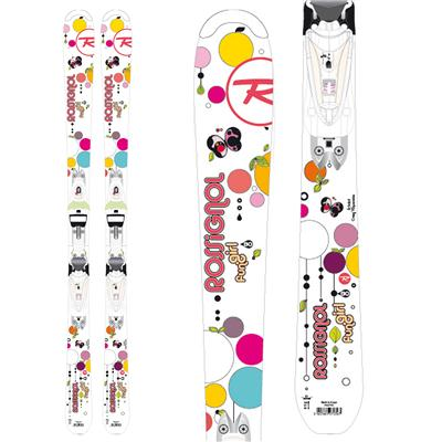 Rossignol Fun Girl Skis + Saphir 45 Binding - Youth - Girl's 2013