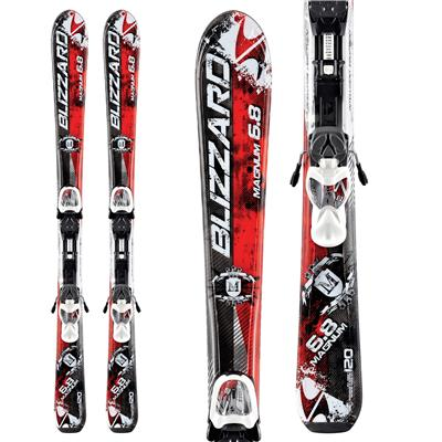 Blizzard Magnum Jr. Skis + IQ 7 Bindings - Youth - Boy's 2013