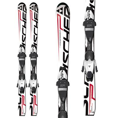 Fischer Progressor Jr Skis + FJ4 AC Jr Rail Bindings - Youth 2013