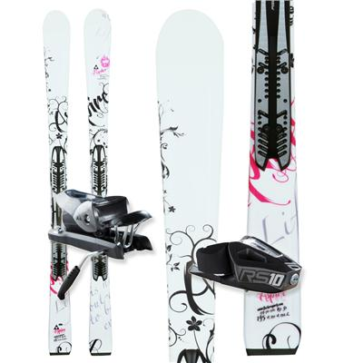 Fischer Aspire FP9 (White) Skis + RS 10 Bindings - Women's 2013