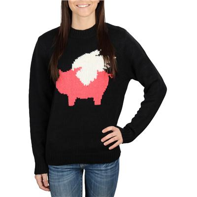 Glamour Kills When Pigs Fly Grandma Crew Sweater - Women's