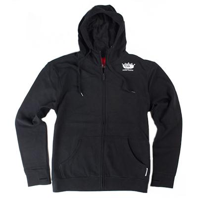 Spacecraft Crown Black Zip Hoodie