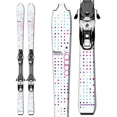 Salomon Candy Jr Skis + L7 Bindings - Youth - Girl's 2013