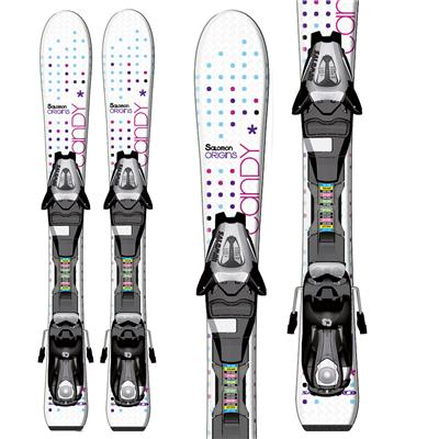 Salomon Candy Jr Skis + C5 Bindings - Youth - Girl's 2013