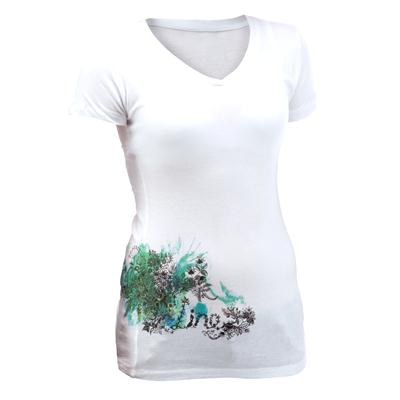 Line Skis Ski Art V Neck T Shirt - Women's