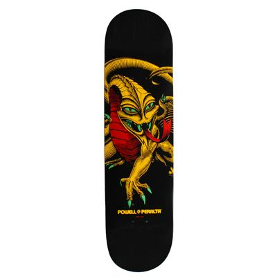 Powell Blacklight Series Caballero Dragon Rasta Skateboard Deck