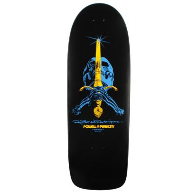 Powell Ray Rodriguez Skull And Sword Black Skateboard Deck