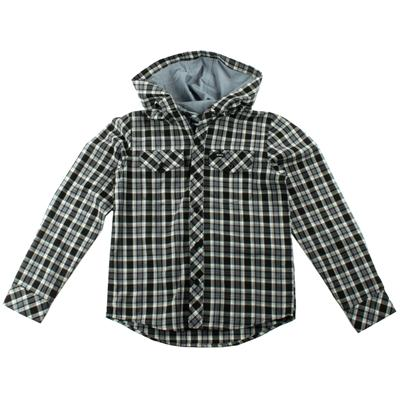 RVCA Radio Drop Hooded Button-Down Shirt (Ages 8-14) - Boy's