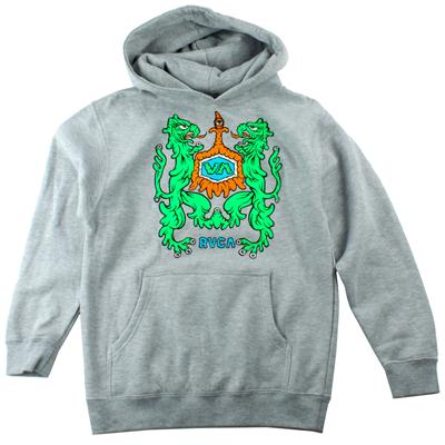 RVCA Monster Crest Pullover Hoodie - Youth - Boy's