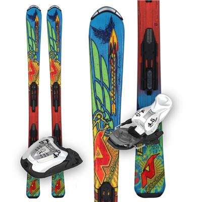Nordica FireArrow Team Skis + M4.5 Bindings - Youth - Boy's  2013