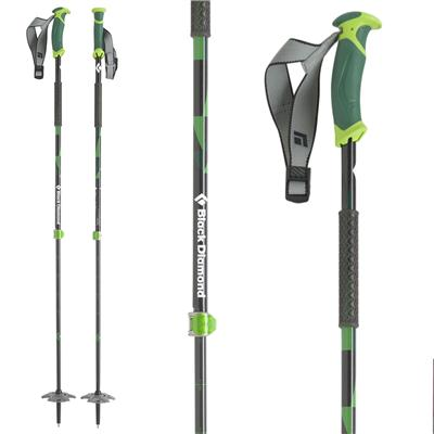 Black Diamond Pure Carbon Adjustable Ski Poles 2014