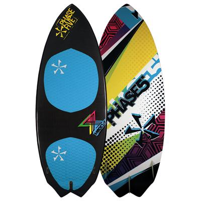 Phase Five Model X Carbon Wakesurf Board 4'10