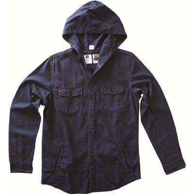 Analog Belmot Hooded Button Down Shirt