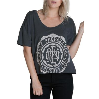Obey Clothing College Crest T Shirt - Women's