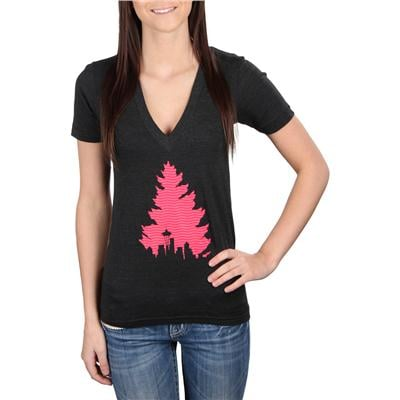 Casual Industrees Johnny Tree Tread V Neck T Shirt - Women's
