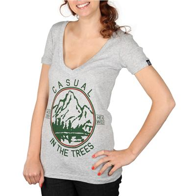 Casual Industrees In The Trees V Neck T Shirt - Women's
