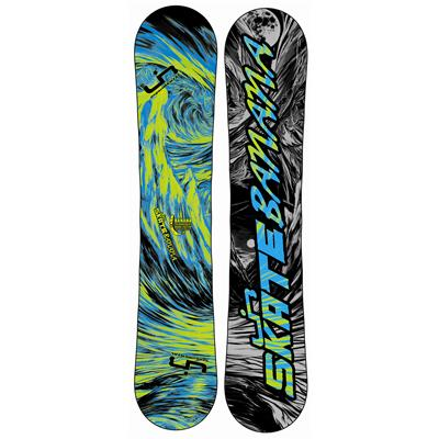 Lib Tech Skate Banana BTX (Blue/Green) Narrow Snowboard 2013