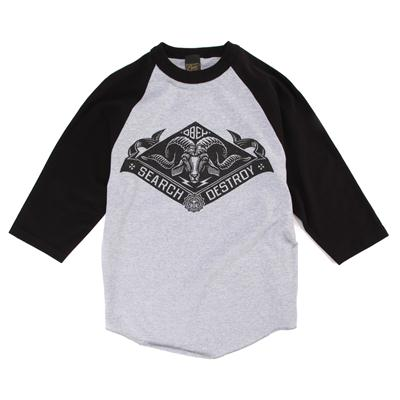 Obey Clothing Search And Destroy Goat Raglan T-Shirt