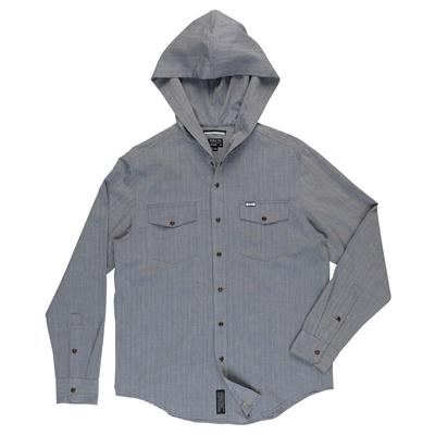 RVCA Chamber Hooded Button-Down Shirt