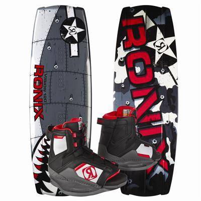 Ronix Vision Wakeboard + Vision Bindings - Youth - Boy's 2013