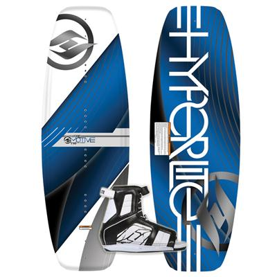 Hyperlite Motive Jr Wakeboard + Remix Bindings - Boy's 2013