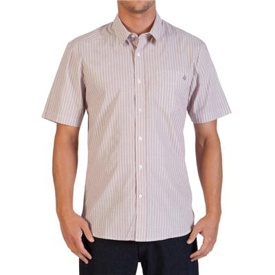 Volcom Why Factor Stripe Short-Sleeve Button-Down Shirt