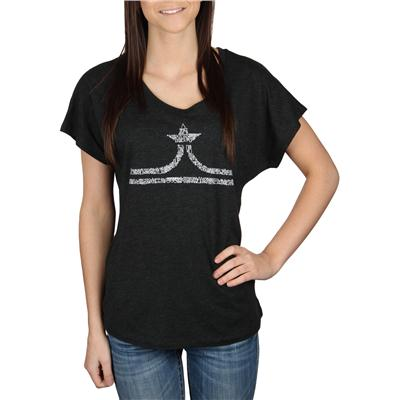evo Hand Drawn Crown Dolman T-Shirt - Women's