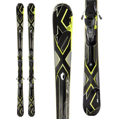 K2 A.M.P. Charger Skis + Marker MX 12.0 Bindings 2013