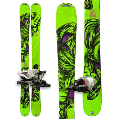 K2 Bad Apple Skis + Marker Free 10.0 Bindings - Boy's 2013