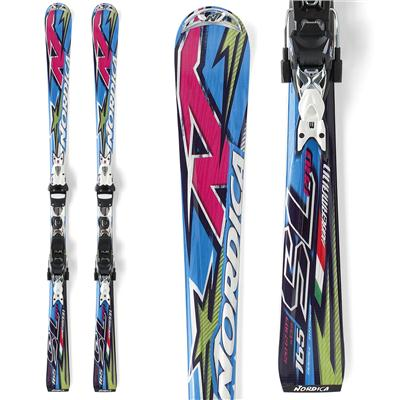 Nordica Dobermann Pro SL Skis + Comp 20 Bindings 2012