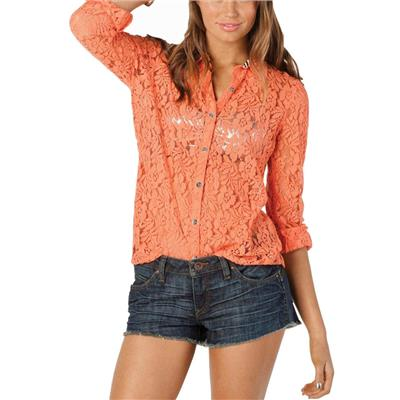 Volcom Not So Classic Lace L/S Top - Women's
