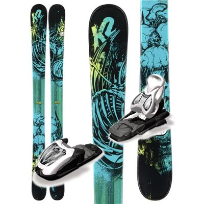 K2 Bad Seed Skis + Fastrak2 7 Bindings - Boy's 2013