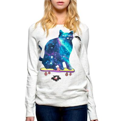 Glamour Kills Let's Get Rad Crew-Neck Sweatshirt - Women's