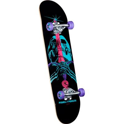 Powell Peralta Black Light Skull & Sword Purple Skateboard Complete