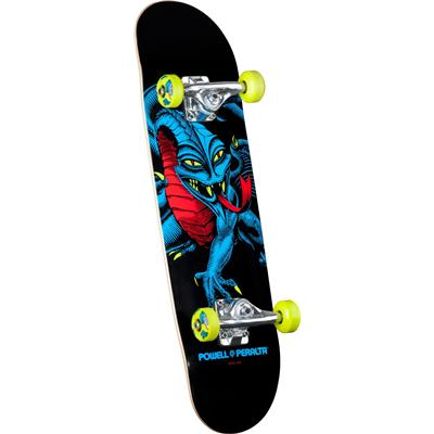 Powell Peralta Black Light Cab Dragon Green Mini Skateboard Complete - Kid's