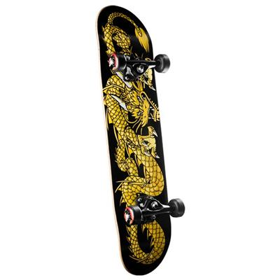 Golden Dragon Striking Dragon Skateboard Complete