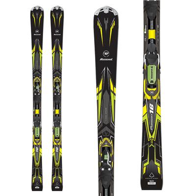 Rossignol Pursuit 16 Ti Basalt Skis + Axial2 120 Bindings 2014