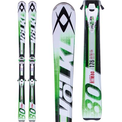 Volkl RTM 80 Skis + iPT Wide Ride 12.0 Bindings 2014