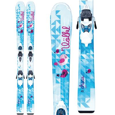 Volkl Chica Jr Skis + 3Motion Jr 4.5 Essenza Bindings - Girl's 2014