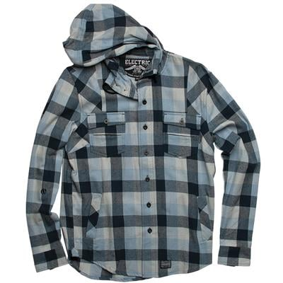 Electric Davis Hooded Flannel Button-Down