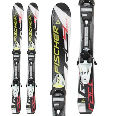 Fischer RC4 Race Jr. Skis + FJ4 AC Jr. Rail Bindings - Boy's 2014