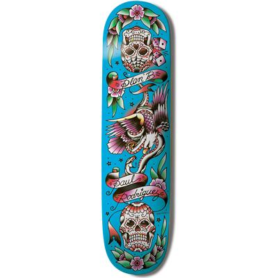 Plan B Paul Rodriguez Color Flash Skateboard Deck