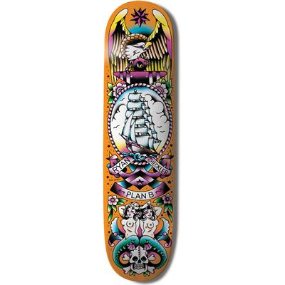 Plan B Ryan Sheckler Color Flash 8.2 Skateboard Deck