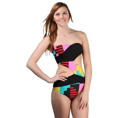 Volcom Blockbox Cut Out One Piece Swimsuit - Women's