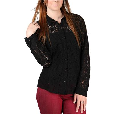 Volcom Not So Classic Lace L/S Button Down Shirt - Women's