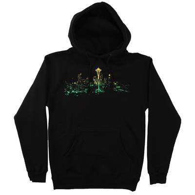Casual Industrees Seattle Lights Fade Pullover Hoodie