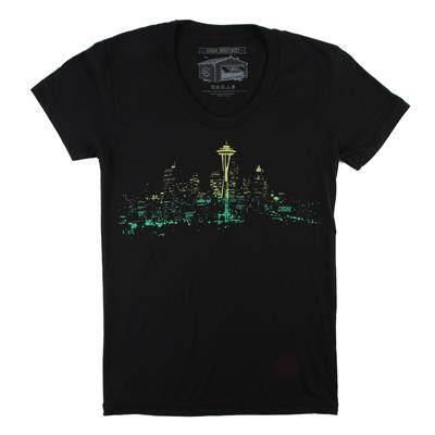 Casual Industrees Seattle Lights Fade T-Shirt - Women's