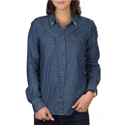 Volcom Dip Stix Long-Sleeve Button-Down Shirt - Women's